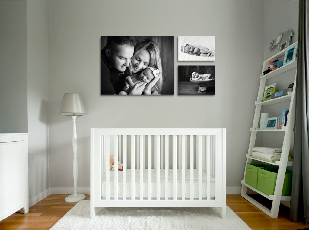 Newborn Photography up on the walls
