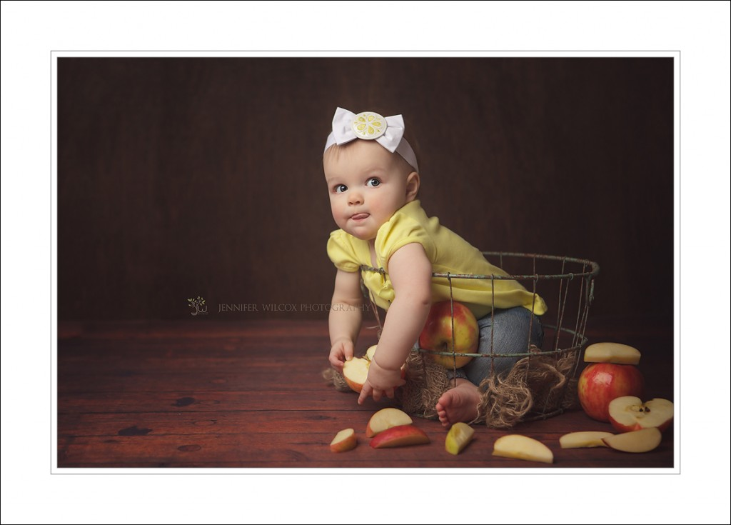 Puyallup Baby Photographer Jennifer Wilcox Photography 1024x735 Puyallup Baby Photographer ~ An Apple A Day
