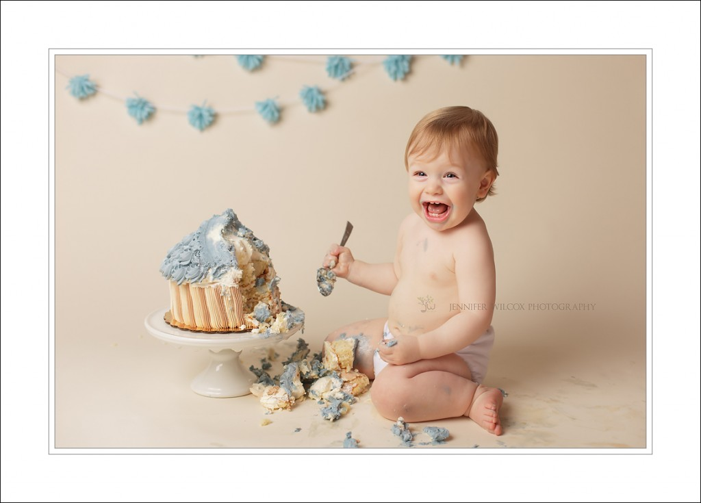 Kirkland Baby Photographer Jennifer Wilcox Photography Cake smash Malakai 6 1024x735 Kirkland Baby Photographer ~ Cake