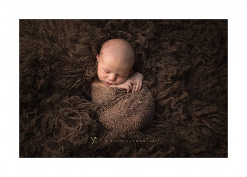 Seattle Newborn Photographer_Jennifer Wilcox Photography_Baby on fur