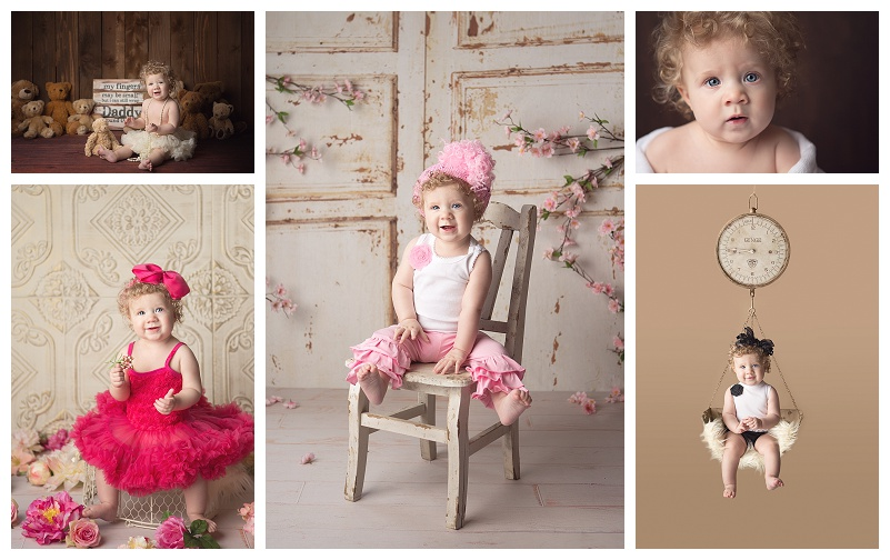 Best puyallup baby photographer Jennifer Wilcox Photography Baby girl milestone portrait session Puyallup Baby Photographer ~ Baby Eyes