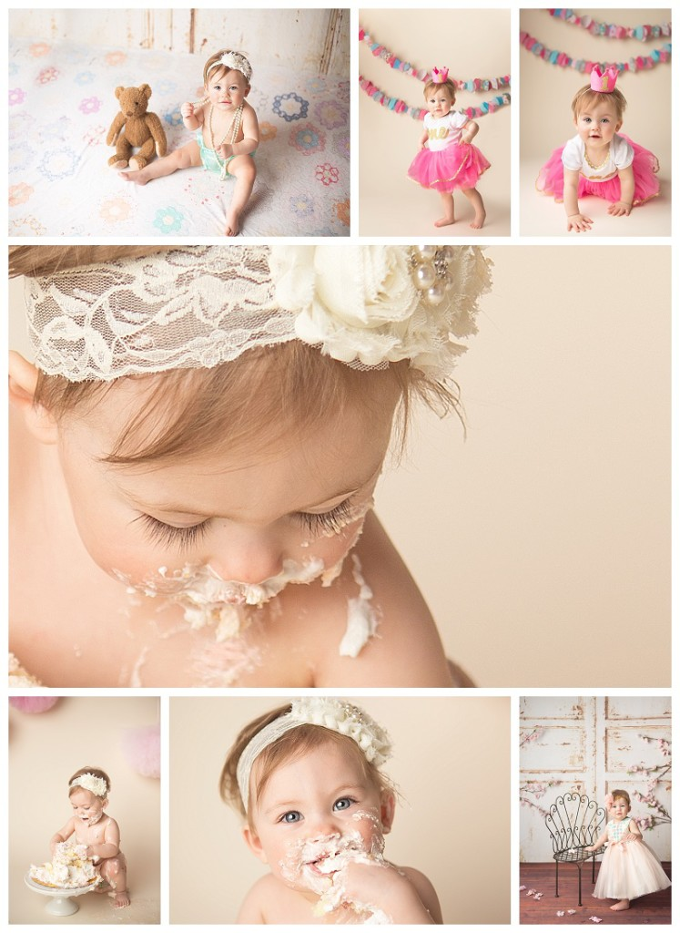 Puyallup Baby Photographer_Jennifer Wilcox Photography_Cake Smash Baby Girl_Sugar Babies outfit_Holly one year portrait session