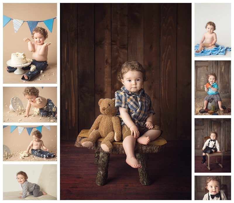 Puyallup baby photographer, baby portraits, cake smash, baby milestone pictures