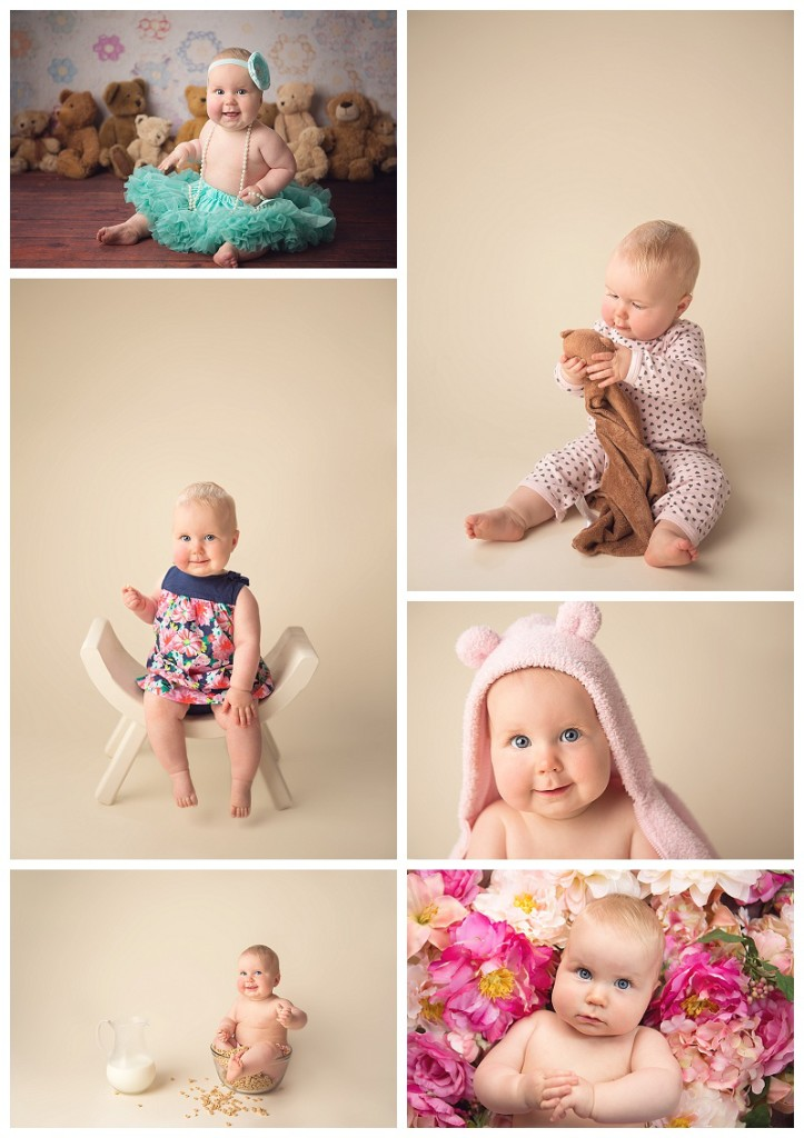 Tacoma baby photographer, baby milestone portraits, baby girl,