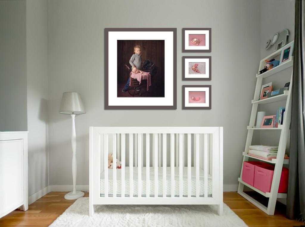 Newborn photography wall display_Jennifer Wilcox Photography
