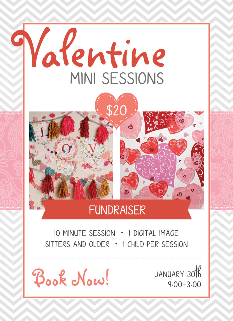 Valentines, mini session, fundraiser, kids, pictures