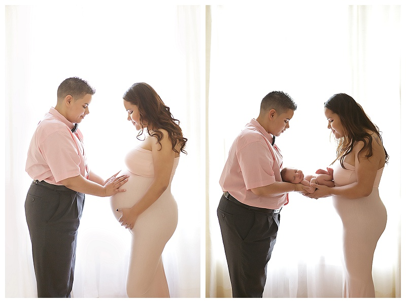 Newborn photography before and after