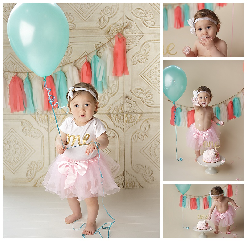 Cake smash, birthday pictures, baby girl, baby pictures