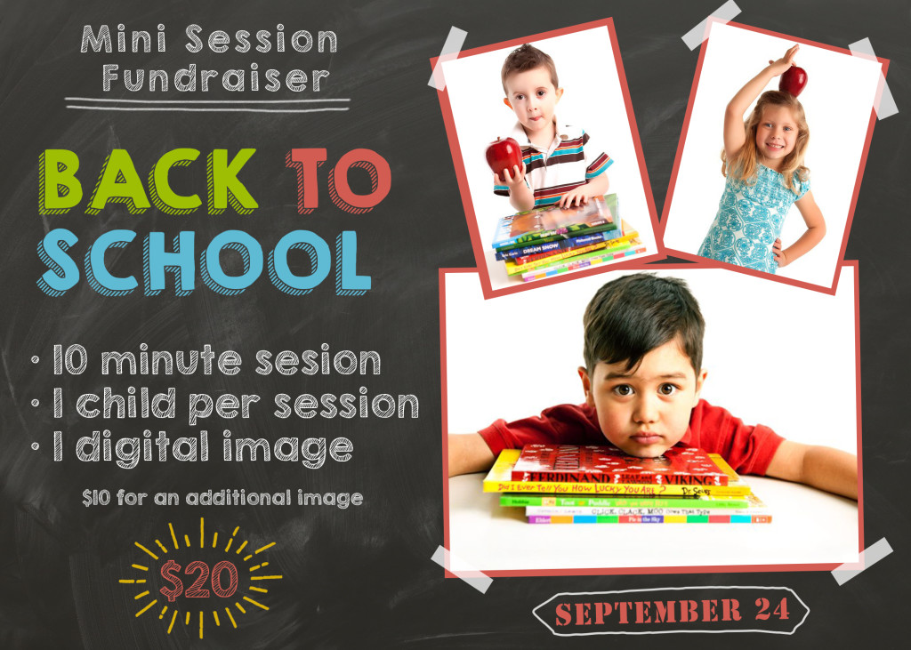 Back to school, portraits, fundraiser, kids, pictures