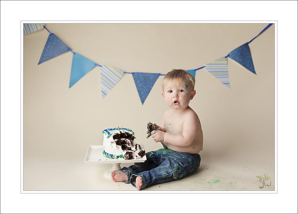 Lacey baby photographer, portraits, cake smash
